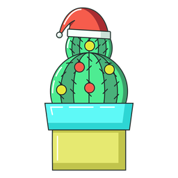 Cactus ball hat pot flat