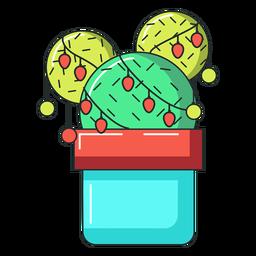 Bola de maceta de cactus plana
