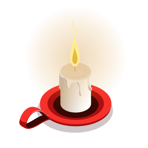 Candle light isometric Transparent PNG
