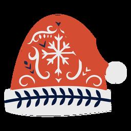 Gorra sombrero plano navidad escandinavo