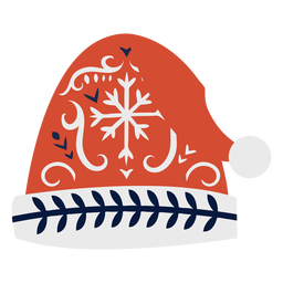 Gorro sombrero plano navidad escandinavo
