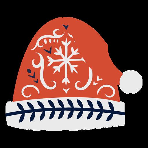 Cap hat flat christmas scandinavian Transparent PNG