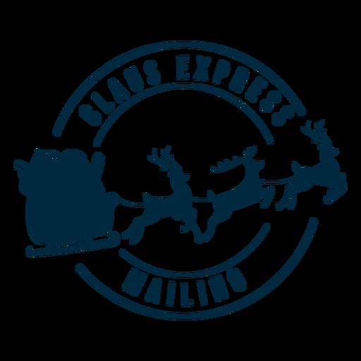 Claus express mailing badge sticker Transparent PNG