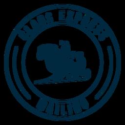 Etiqueta engomada de la insignia del trineo postal de claus express