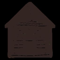 Silueta detallada de la casa de pan de jengibre de galleta
