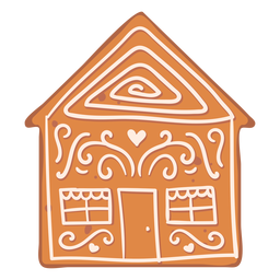Cookie gingerbread house flat