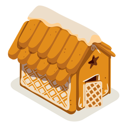 Cookie gingerbread house isometric