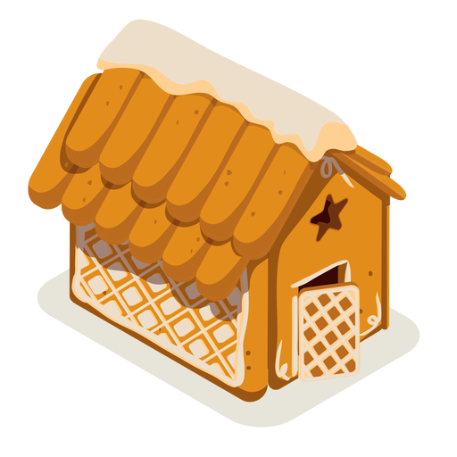 Galleta casa de jengibre isométrica