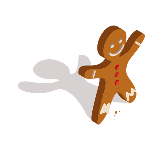Cookie gingerbread isometric