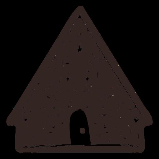 Silueta detallada de galleta casa pan de jengibre