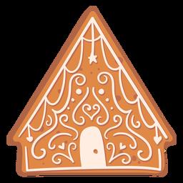 Galleta casa pan de jengibre plana