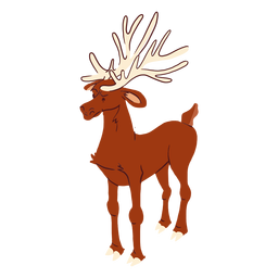 Asta de ciervo isométrica