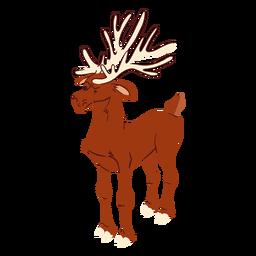 Cornamenta de ciervo isométrica
