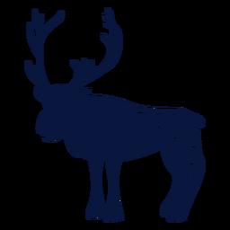 Silueta detallada de asta de reno de ciervo