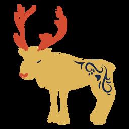 Chifre de rena de veado plana