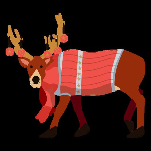 Deer reindeer flat xmas Transparent PNG