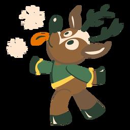 Deer snowflake flat