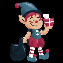 Personagem de Natal menino elfo