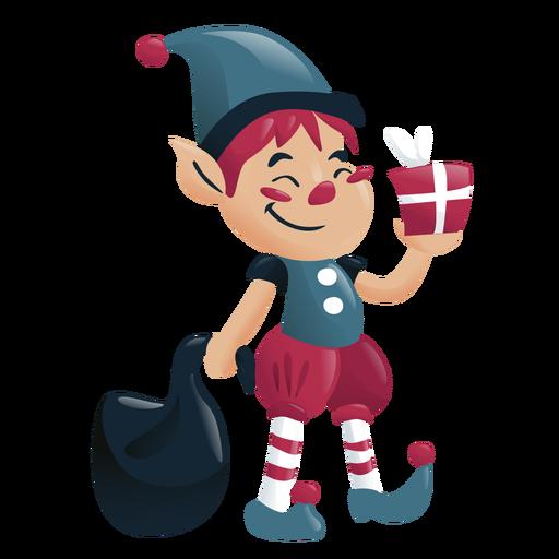 Elf boy christmas character