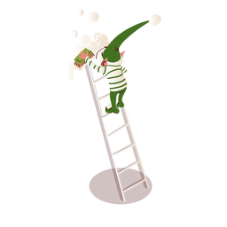 Elf brush ladder isometric