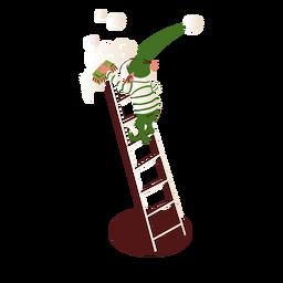 Escalera de cepillo elfo isométrica