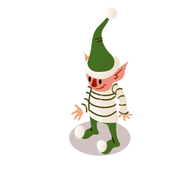 Elf cap hat isometric