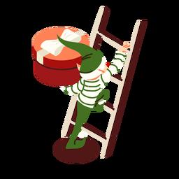 Arco de presente de caixa de escada elfo isométrico