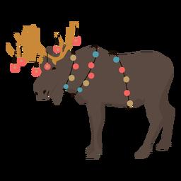 Guirnalda de alces Navidad plana