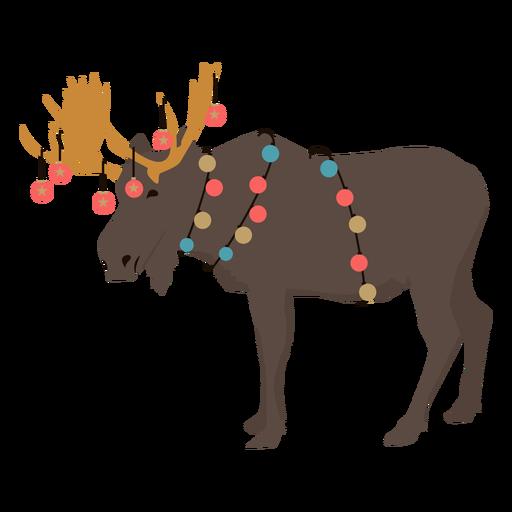 Guirnalda de alces Navidad plana Transparent PNG