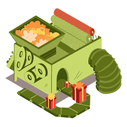 Factory gift box isometric