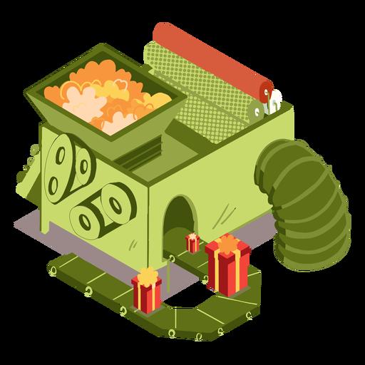 Caja de regalo de fábrica isométrica