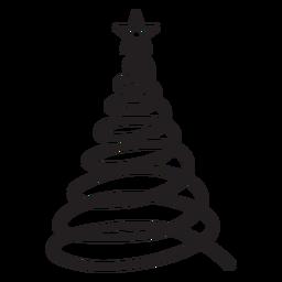 Estrela de abeto com renda ondulada em espiral plana
