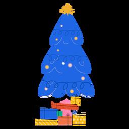 Bola de estrella de regalo de abeto plana
