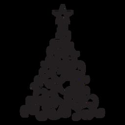 Renda de abeto com espiral estrela redemoinho plano