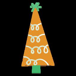 Bastón de caramelo de estrella de abeto plano