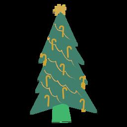 Tanne Stern Zuckerstange flache Weihnachten