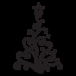 Estrela de abeto espiral redemoinho de renda plana