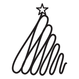 Renda estrela de abeto com espiral ondulada