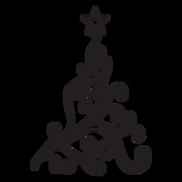 Redemoinho de abeto com renda ondulada estrela plana