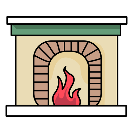 Fireplace fire flat