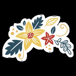 Blume Beerenzweig Blatt flach