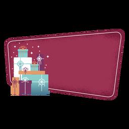 Etiqueta de caja de regalo