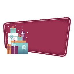 Etiqueta engomada de la insignia de la caja de regalo