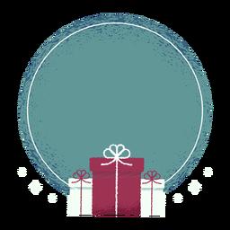 Gift box bow badge sticker