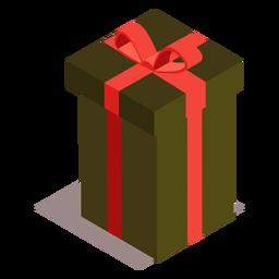 Caja de regalo arco isométrico