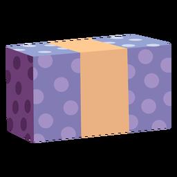 Caixa de presente plana