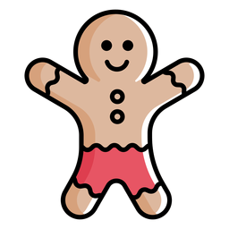 Gingerbread cookie flat