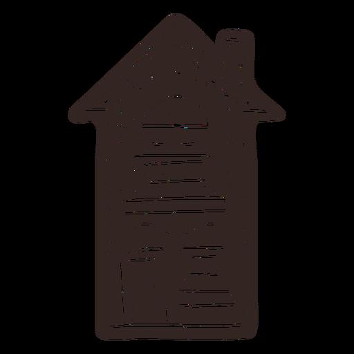 Silueta detallada de casa de galletas de jengibre