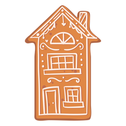 Gingerbread cookie house flat