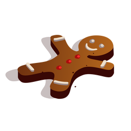Gingerbread cookie isometric